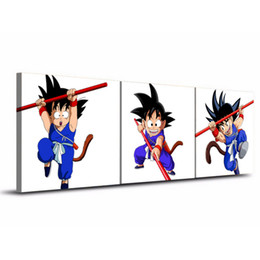 Wholesale Traditional Dragon Paintings - Dragon Ball ,3 Pieces Home Decor HD Printed Modern Art Painting on Canvas  Unframed Framed
