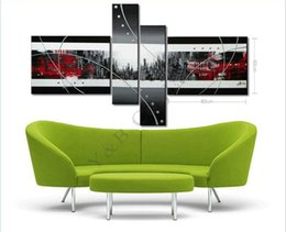 Wholesale Abstract Lines Modern Art Canvas - New Hot Modern City Line Star Landscape Oil Painting On Canvas 4 Panel Art Set Home Abstract Wall Decor Picture for Living Room