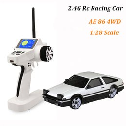 Wholesale Brushless Rc Trucks - High speed rc drift car 4wd rc truck 1 28 AE 86 model remote control cars toys for children drop shipping