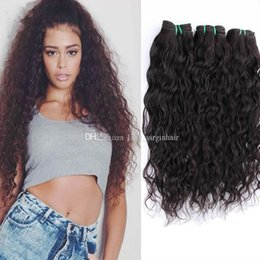 Wholesale Cheap Curly Brazillian Hair - Cheap Human Hair Wet and Wavy Brazilian Hair Raw Unprocessed Brazillian Hair Loose Curly Brazilian Human Hair Water Wave Bundles