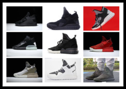 Wholesale Cheap Glowing Shoes - men Fashion Boost Originals Tubular X Primeknit Glow in the Dark S74933 Sneakers Discount cheap Training Soccer Shoes Running shoes For men