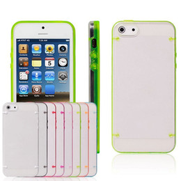 Wholesale Iphone 5s Cases Glowing - New Hybrid case TPU + PC plastic Transparent Case Light Glow in Dark Night Cover for iphone7 7 plus 6 6S plus 5S Samsung S7 edge S6 S5