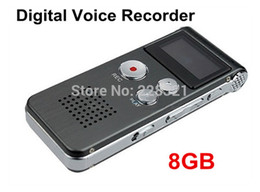 Wholesale Voice Recorder Box - Wholesale-Digital Audio Voice Recorder 8GB Dictaphone MP3 Player Professional SK-012 with retail box free shipping