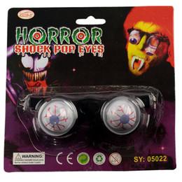 Wholesale Glass Eyeballs - Prank Joke Toy Funny Horror Shock Pop Out Eyes Glasses Dropping Eyeball Glasses for Halloween Costume Parties Joke Gift Pop Out Eye Glasses
