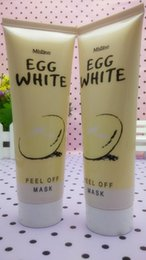 Wholesale Face Thailand - Egg White Peel Off Face Mask Collagen Blackhead Remover Thailand Mistine Moisturizing Beauty Products VS Gold Bio-Collagen Facial Mask 85g