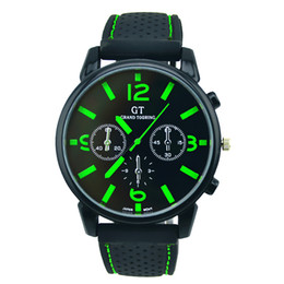 Wholesale Black Rubber Wrist Bands - relojes hombre 2017 Grand Touring Men Quartz Watch GT Sport Silicone Band Wristwatch relogio masculino montre homme Wrist Watch