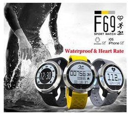 Wholesale Fitness Items - New item F69 Waterproof Smart Watch Professional IP68 Swimming Mode Intelligent Healthy Heart Rate Bracelet for IOS Android Phone