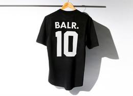 Wholesale Camping Tens - Brand-mens t shirts fashion 2016 BALR t-shirt 100% Cotton Short Sleeve t shirts back printing t shirt summer ten shirts 6 styles