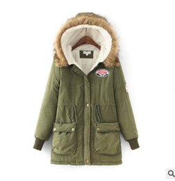 Wholesale Womens Clothes Jackets - In Stock Winter Jacket Women New Winter Womens Parka Casual Outwear Hooded Coat Fur women Coat Manteau Femme Woman Clothes FS3128