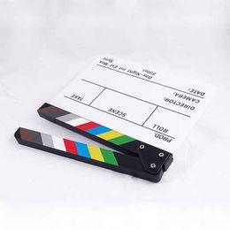 2019 schnelle schlinge kamera Bunte Clapperboard Acryl Film Aktion Schiefer Clap Clapper Board 32 * 27 CM