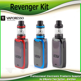 Wholesale Head Atomizer Core - Original Vaporesso Revenger Vape Starter Kit 220w with TPD 2ml 5ml NRG Mini Tank Atomizer with Authentic GT8 GT4 Core Coil Head 100% Genuine