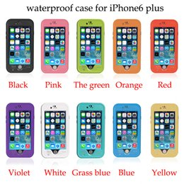 Wholesale Redpepper Waterproof Cases - Redpepper For iPhone7 7plus 6plus 6s plus 5s 5c 4s Case Red Pepper Waterproof Shockproof Case With Fingerprint Sensor Touch 10color
