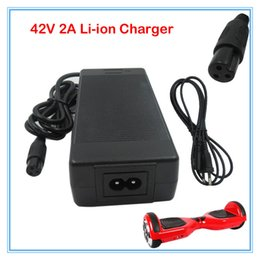 Wholesale 36v Lithium Battery - 42V 2A Universal Battery Charger, 100-240VAC Power Supply for 36V Self Balancing Scooter Hoverboard lithium charger free shipping