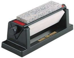 Wholesale Stainless Sharpening Steel - NEW Tri-Hone Sharpening System 3 Sharpening Stones In One