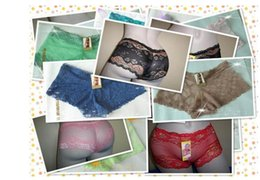 Wholesale Cheap Brief Panties - Hot sell 2017 cheap new fashion sexy high quality jacquard lace Ms panties thin breathable women's briefs shorts girl underwears 60pcs Lot