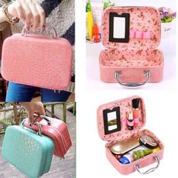 Макияж коробка ювелирных изделий сумка для хранения камень шаблон искусственная кожа путешествия косметический организатор чемодан для макияжа чехол supplier patterned suitcases от Поставщики узорчатые чемоданы