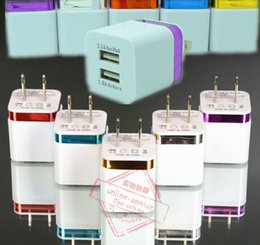 Wholesale Electroplate Home - Electroplating Metal Wall Charger US Plug Dual USB 2.1A AC Power Adapter Home Chargers Plug For Samsung Galaxy S6 LG Tablet iPad iPhone 6s