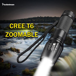 Wholesale Free Xm - High-quality 2000LM CREE XM-L T6 5Mode LED Flashlight Zoomable lanterna Torch linternas by 1*18650 or 3*AAA Free shipping