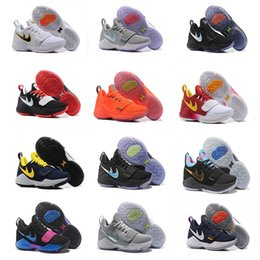 Wholesale Cut For Sale - 2017 Top quality Paul George PG1 Shining Ferocity Men's Basketball Shoes for Cheap Sale PG 1 Los Angeles Home Sports Sneakers Size 40-46
