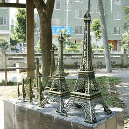 Wholesale Decoration Paris - Wedding table Centerpieces favor paris Eiffel Tower model Alloy Eiffel Tower home Metal craft ornament wedding decoration supplies