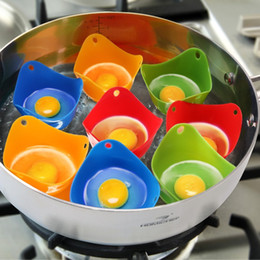 Wholesale Egg Packing - Egg Poacher-COZILIFE Silicone Egg Poaching Cups with Ring Standers,For Microwave or Stovetop Egg Cooking,Kraft Box Packing,BPA Free
