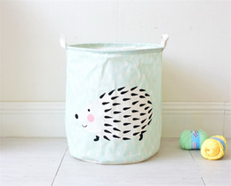 Wholesale Waterproof Storage Baskets - 2017 fashion Storage basket Home Storage Organization Cute hedgehog Waterproof dirty clothes basket Home Decoration wholesale free shipping