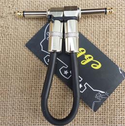 Высококачественный 20,5 см черный электрический гитарный усилитель Аудиокабель Гитарные эффекты Педаль Кабельные гитарные части музыкальные инструменты от