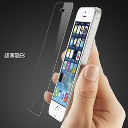 Wholesale Iphone 5g Screen Protector - Tempered Glass Screen Protectors for Iphone 5 5G 5S 5C Transparent 0.2mm 9H Glass Explosion Proof Screen Protectors