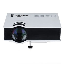 Tv lcd led online-Proyector Mini LED Proyectores LCD Unic UC40 + 3D Proyector Full HD 1080P Reproductor multimedia Home Theater Compatible HDMI VGA USB Xbox Game TV Beamer