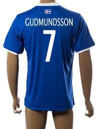 Wholesale Wholesale Thai Quality Soccer Uniforms - Thai Quality customized 16 Iceland 7 GUDMUNDSSON Soccer Jersey shirt,discount Cheap 9 sigthorsson Football Jerseys Uniforms,MENS Soccer Wear
