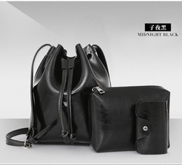 Wholesale Cheapest Bag Box - Cheapest Black Lady Bucket bag Vintage Handbags With Single Shoulder bags Adjustable belt cross bags With PU high Quality lx-3010