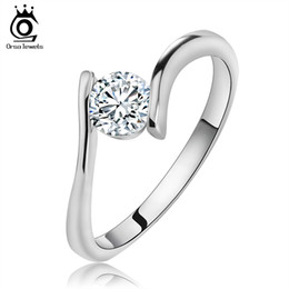 Wholesale African Jewelry Wedding Sets - Pretty Ladies Ring,925 Sterling Silver with Luxury Austria Crystal,3 Layer Platinum Plated,Fashion Jewelry Free Shipping OR06