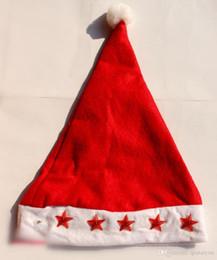 Wholesale Santa Hat Flashing Light - Christmas LED flashing light Santa Claus Cap Soft Red Christmas Hat Christmas Christmas Gifts Christmas ornaments 1000 lot H441
