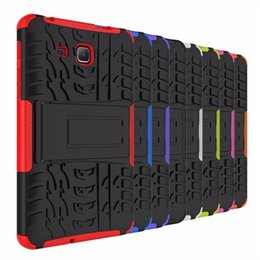 Wholesale Galaxy Tablet Waterproof Case - For Samsung Galaxy Tab3 lite T110 t116 Tablet phone case Dazzle Pattern Heavy Duty Defender Rugged TPU PC Armor Shockproof Kickstand cover