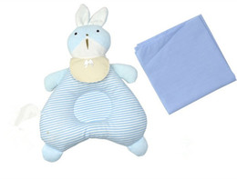 Wholesale Cotton Kapok - Cute Rabbit Baby Pillows Correct Head Shape Newborn Pillow Bedding Product