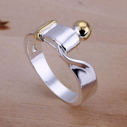 Wholesale Wedding Bands For Cheap - free shipping Silver plated jewelry 925-sterling-silver rings fashion jewelry wedding rings for cheap R021