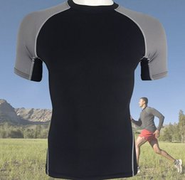 Wholesale Men Clothing Foreign - New male sports fitness compression quick dry sweat tight T shirt foreign trade sportswear fitness clothes