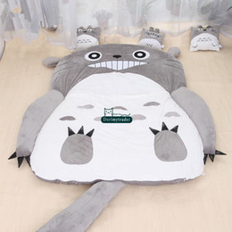 2019 digimon felpa Dorimytrader caliente de Japón del Anime de Totoro Saco de dormir de la cubierta grande de la felpa suave alfombra colchón de la cama del sofá tatami regalo sin DY61067 algodón