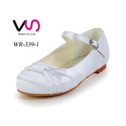 Wholesale Ballet Shoes Size 11 - Comfortable Falt Flower gril Bridal Wedding Shoes For Flower Gril Wedding Dress Shoes From Size 28 to Size 41