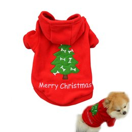 Wholesale Hot Santa Costume - Free Shipping Hot sell Christmas Pet Puppy Dog Clothes Santa Claus Costumes Outwear for Small dog pet Thick Coat Apparel Dog clothing CD025