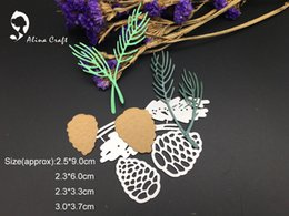 Wholesale Scrapbook Christmas - METAL CUTTING DIES 4pc Christmas pine cones Scrapbook card PAPER CRAFT made embossing stencils punch
