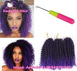 Wholesale Kinky Braids Extension - Crochet braids Caribbean twist braiding hair bundles kinky curly curly bohemian styles mambo twist short weave wefts for black women UK USA