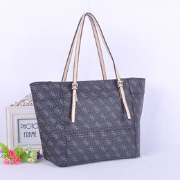Wholesale Larger Women - women shoulder bag pu leather Handbag larger tote Alphabet prints bag Woman love gift Handbag GU015
