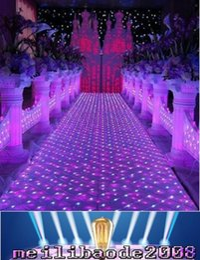 accesorios del pasillo de la boda Rebajas La NUEVA decoración brillante de la etapa de la estación del corredor del pasillo A del pasillo de la alfombra del espejo de la boda de los 60CM * 60 cm apoya el envío libre MYY