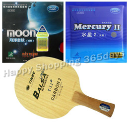 Wholesale Combo Table - Wholesale- Pro Table Tennis PingPong Combo Racket YINHE Galaxy T-11+ with Moon Factory Tuned and Mercury II shakehand long handle FL