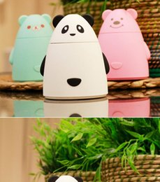 Wholesale Spa Purifier - NEW 2017 Aroma Diffuser Aromatherapy Air Purifier LED USB P Cartoon Bear Humidifier for Home Office Car SPA