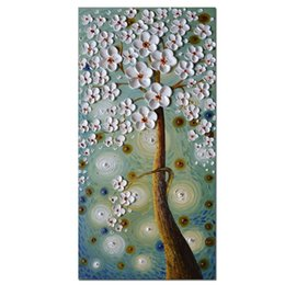 Wholesale Fine Art Framing - Hand Painted Money Tree Art Pictures Framed Large Wall Art For Living Room Wall Décor Fine Art Paintings For Wall On Canvas