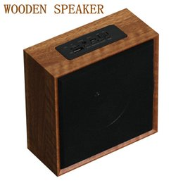 Wholesale natural wooden buttons - Wooden Box Wireless Bluetooth Speaker Bluetooth 4.0 Stereo Music 3-inch Big speaker Support FM Radio Natural Sound Subwoofer PK Charge 3