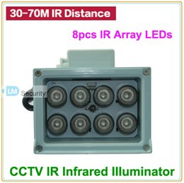 Wholesale Infrared Illuminator Light - 8pcs IR LEDs 30 45 60 90 Degrees Array IR illuminator infrared lamp ArrayLed IR Light Outdoor Waterproof for CCTV Camera