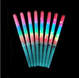 Wholesale Candy Floss Sticks - 28X1.8cm Food Grade LED Flashing Cotton Candy Cone Fairy Floss Sticks Novelty Glow Sticks For Kid Christmas Party ZA1220